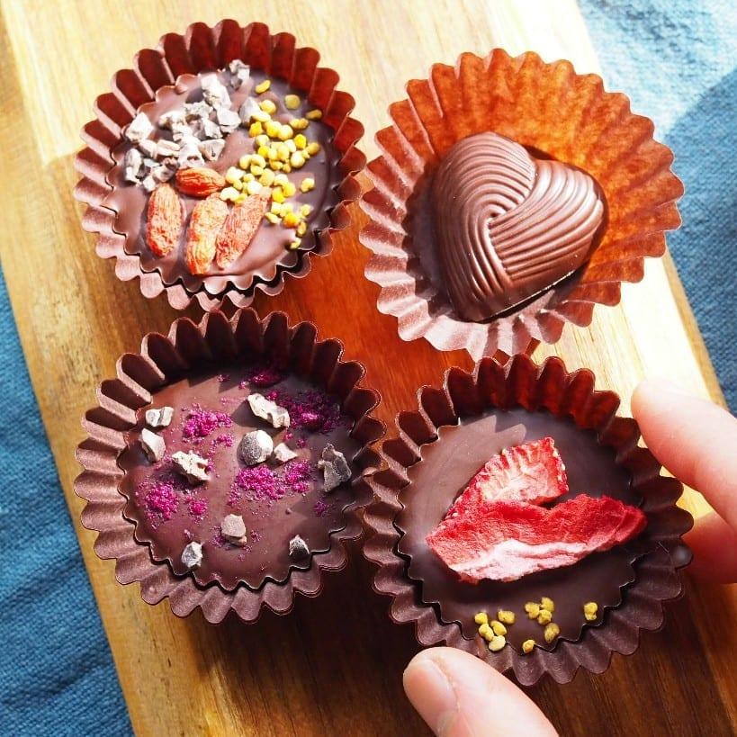 手作りのローチョコレート