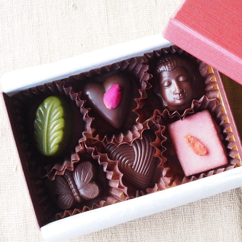 ギフト用のヴィーガンチョコレート