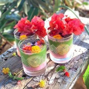 ハワイのローカル野菜や果物を使った可愛いスムージー