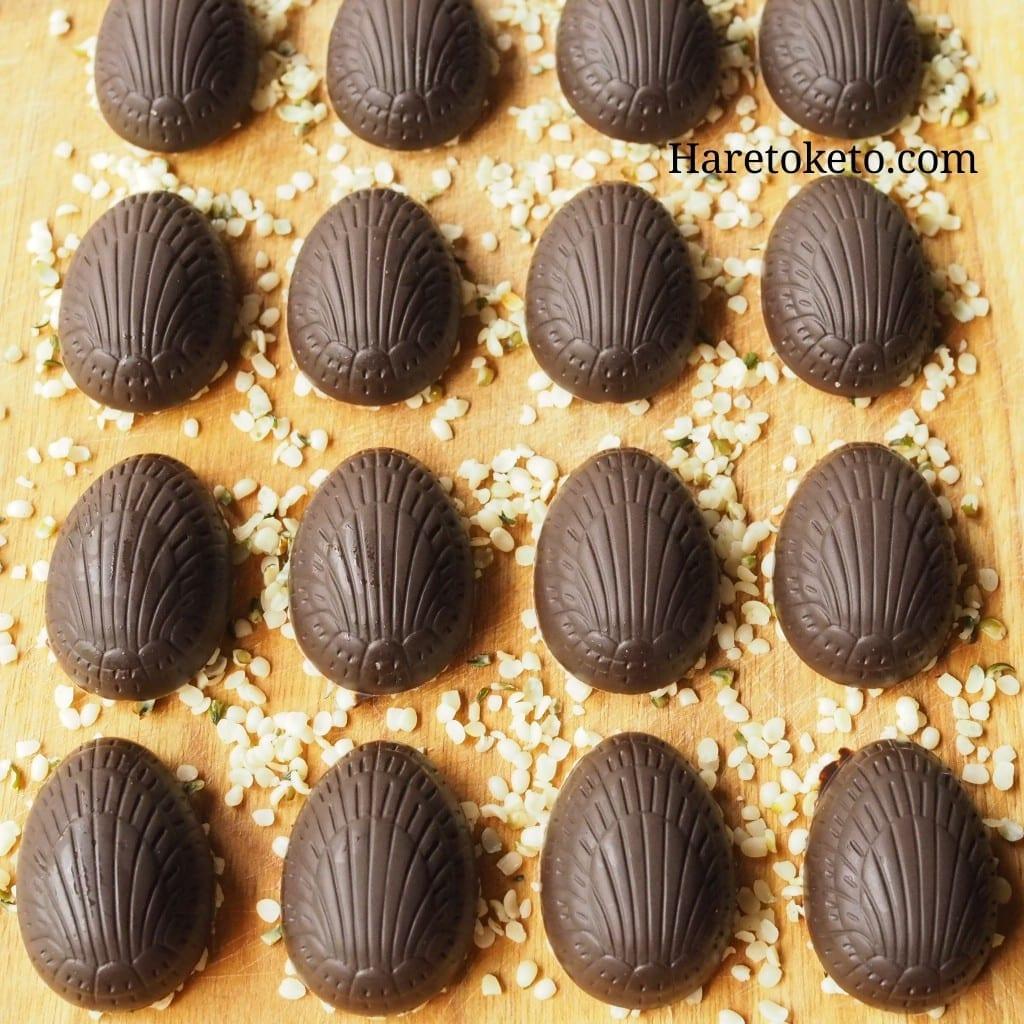 麻炭と麻の実のローチョコレート