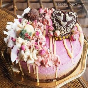 オーダービーガンケーキ。オリジナルの一品。