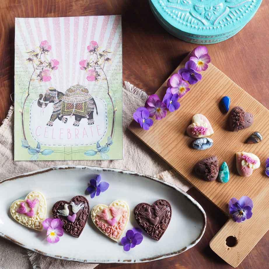 カラフルで愛らしいチョコレート