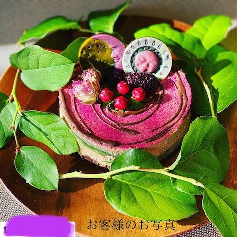 エクアドル産オーガニック生カカオを使用したローチョコレートのローケーキ