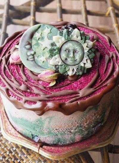 抗酸化作用のヘルシーなビーガンケーキ